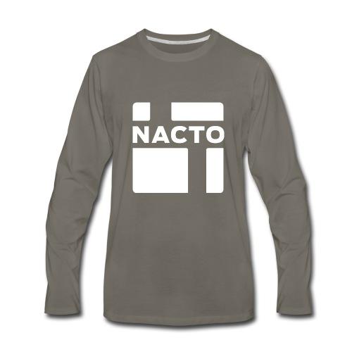 NACTO_logo_white - Men's Premium Long Sleeve T-Shirt