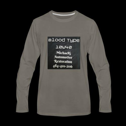 Blood Type - Men's Premium Long Sleeve T-Shirt