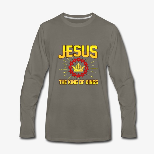 Jesus The king of kings religious shirt - Men's Premium Long Sleeve T-Shirt