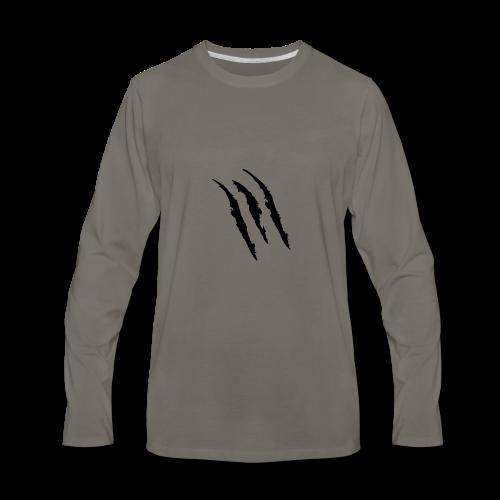 3 claw marks Muscle shirt - Men's Premium Long Sleeve T-Shirt