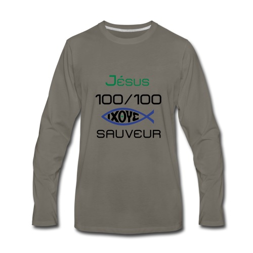 jesus100 - Men's Premium Long Sleeve T-Shirt