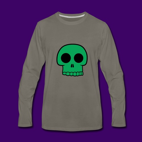 Green Skull - Men's Premium Long Sleeve T-Shirt