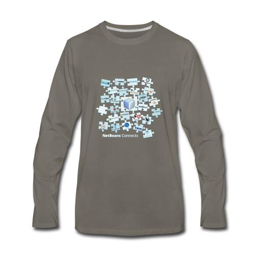 NetBeans Connects - Men's Premium Long Sleeve T-Shirt