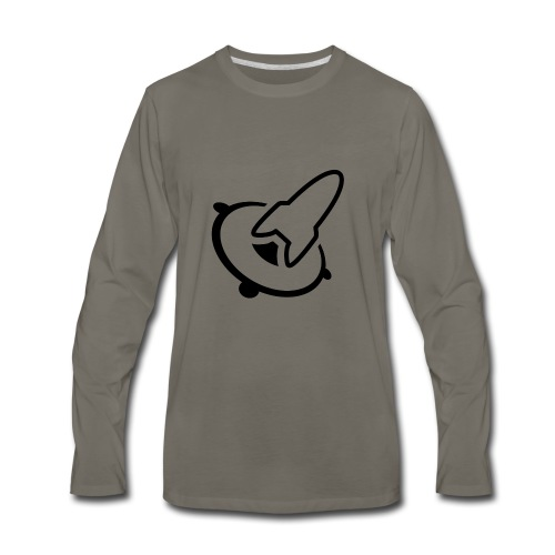 bassrocket logo black - Men's Premium Long Sleeve T-Shirt