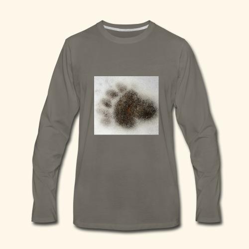 Bear footprint - Men's Premium Long Sleeve T-Shirt