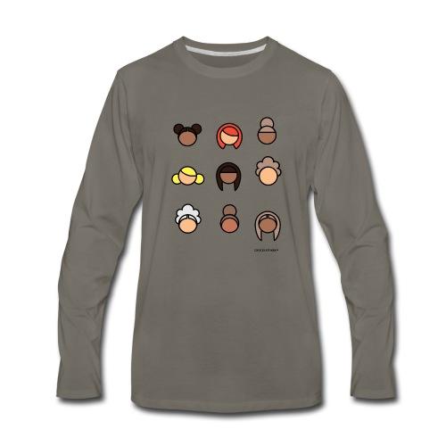 CHOCOLATE MILK Ladies - Men's Premium Long Sleeve T-Shirt