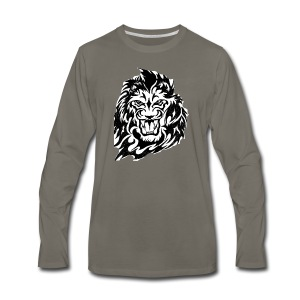 DP Branded-Lion - Men's Premium Long Sleeve T-Shirt