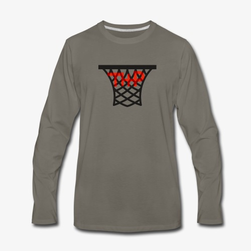 Hoop logo - Men's Premium Long Sleeve T-Shirt