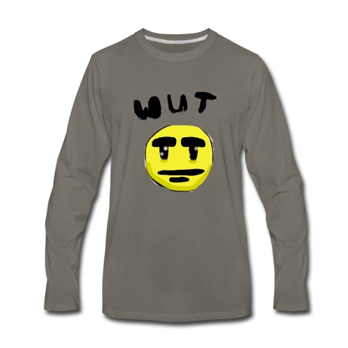Wut Face - Men's Premium Long Sleeve T-Shirt