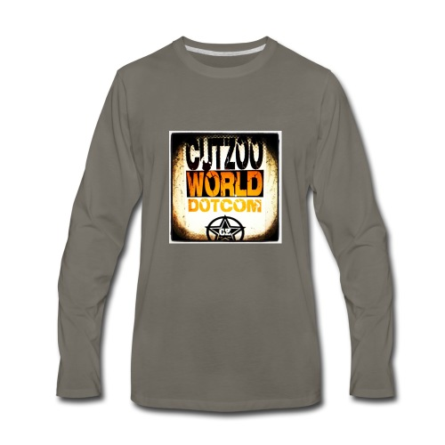 CutZooWorld logo - Men's Premium Long Sleeve T-Shirt