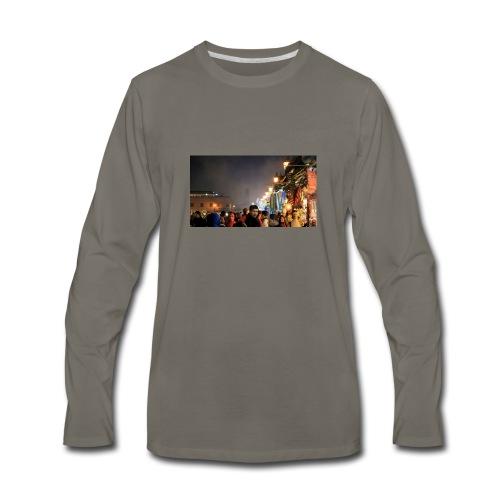 Marrakech at Night - Men's Premium Long Sleeve T-Shirt
