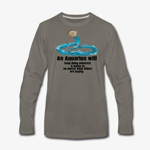 Aquarius - Men's Premium Long Sleeve T-Shirt