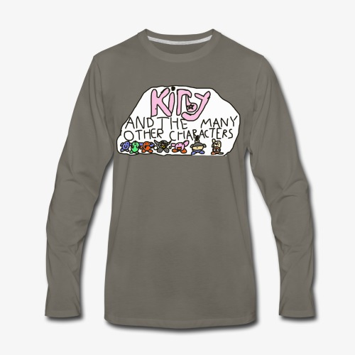 Kirby and the many other characters - Men's Premium Long Sleeve T-Shirt