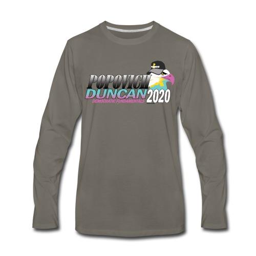 Popovich/Duncan 2020 Campaign Logo - Men's Premium Long Sleeve T-Shirt