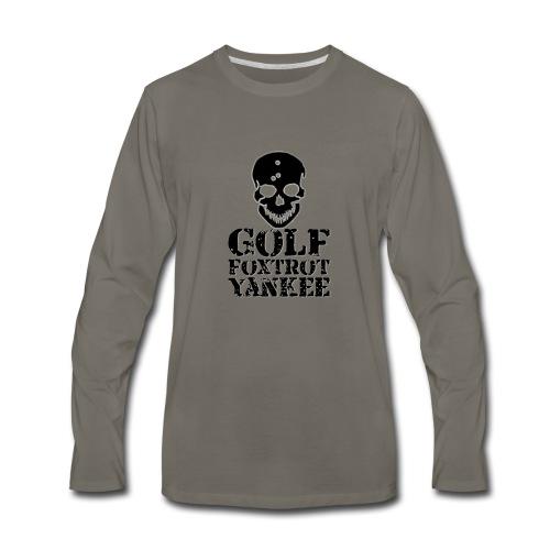 Golf Foxtrot Yankee - Men's Premium Long Sleeve T-Shirt
