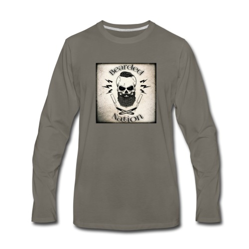 BN Rustic Logo - Men's Premium Long Sleeve T-Shirt