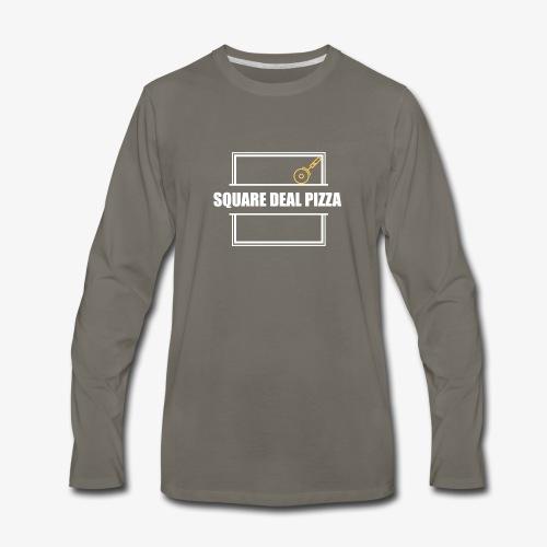 Square Deal Pizza Modern - Men's Premium Long Sleeve T-Shirt