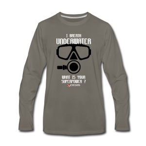 DIVER SCUBA fun - Men's Premium Long Sleeve T-Shirt