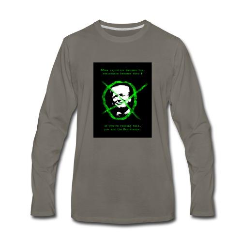 Anti Donald Trump Resistance Election 2016 T-shirt - Men's Premium Long Sleeve T-Shirt