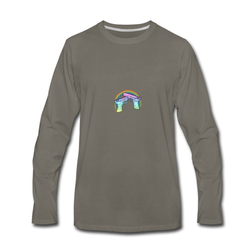 Rainbow guns - Men's Premium Long Sleeve T-Shirt