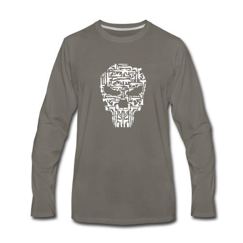 Skull and Guns and Knives Graphic T shirt - Men's Premium Long Sleeve T-Shirt