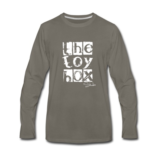 The Toy box Studio - White Logo - Men's Premium Long Sleeve T-Shirt