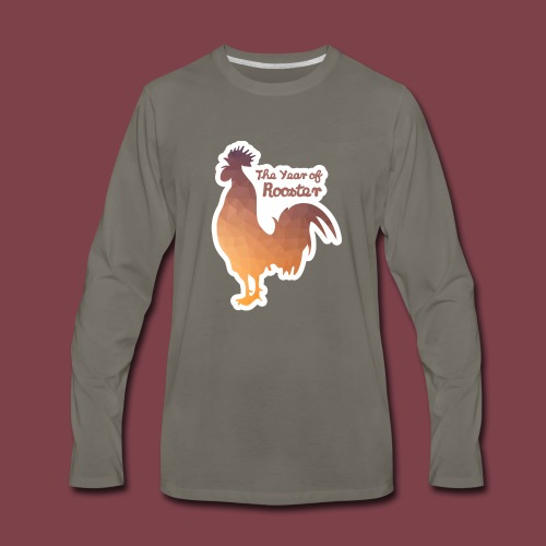 Year of Rooster - Men's Premium Long Sleeve T-Shirt