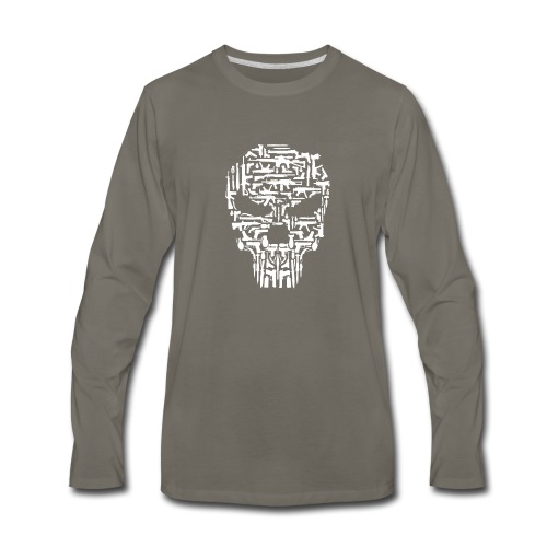 Skull and Guns and Knives Graphic T shirt - Men's Premium Long Sleeve T-Shirt