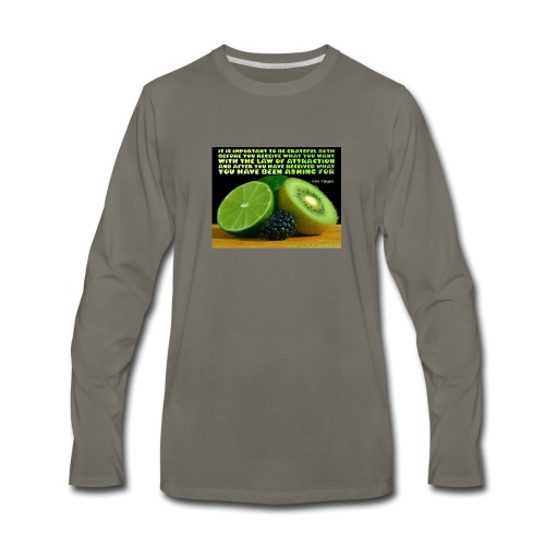 Be Grateful - Men's Premium Long Sleeve T-Shirt