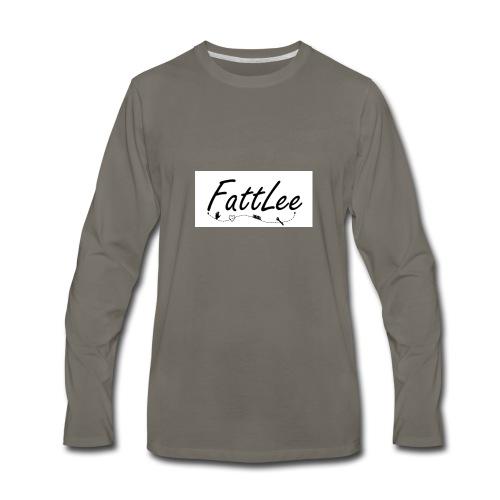 FattLee Temp - Men's Premium Long Sleeve T-Shirt