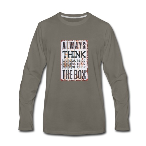 Always think outside the box - Men's Premium Long Sleeve T-Shirt