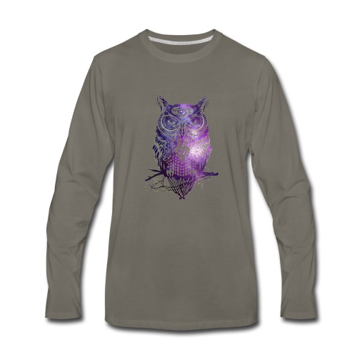 All Seeing Owl - Men's Premium Long Sleeve T-Shirt
