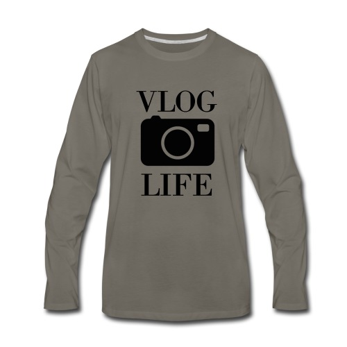 Vlog Life - Men's Premium Long Sleeve T-Shirt