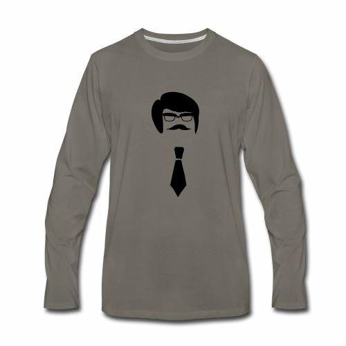 Hipster Guy - Men's Premium Long Sleeve T-Shirt
