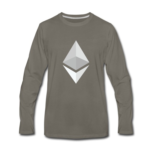 Ethereum Logo Light - Men's Premium Long Sleeve T-Shirt