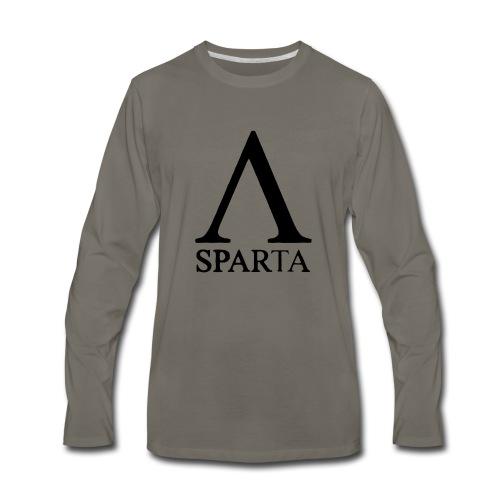 Red Sparta Lambda - Men's Premium Long Sleeve T-Shirt