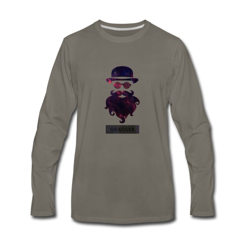 SWAGGER- Beard Swagg - Men's Premium Long Sleeve T-Shirt