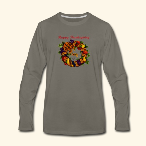 Happy Thanksgiving 1 - Men's Premium Long Sleeve T-Shirt