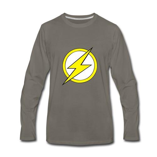 Kid Flash Logo - Second Channel - Men's Premium Long Sleeve T-Shirt