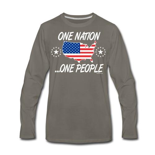 One Nation One People 2012 FRONT TRANSPARENT BACKG - Men's Premium Long Sleeve T-Shirt