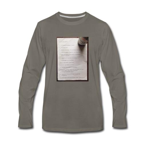 copywriting - Men's Premium Long Sleeve T-Shirt