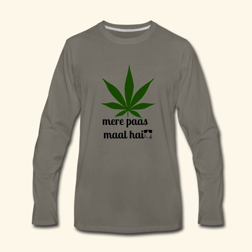MERE PAAS MAAL HAI GREEN STUFF - Men's Premium Long Sleeve T-Shirt