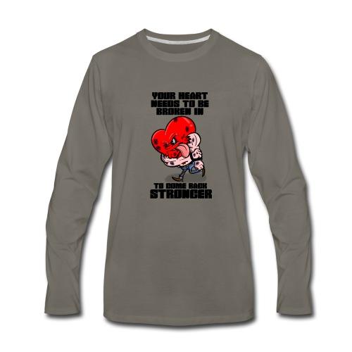 Fighting Heart - Men's Premium Long Sleeve T-Shirt