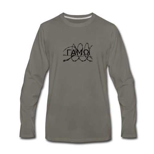 Barbed Wire box logo GAMO - Men's Premium Long Sleeve T-Shirt