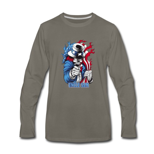 Uncle Sam (united state) - Men's Premium Long Sleeve T-Shirt