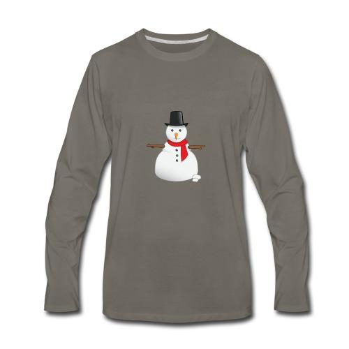 christmas-snowman-clipart-this-cute-snowman-clip-a - Men's Premium Long Sleeve T-Shirt