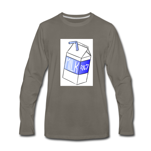 Box of milk - Men's Premium Long Sleeve T-Shirt