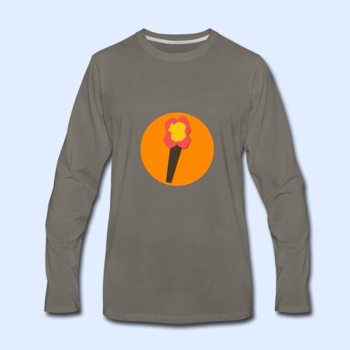 NeoMc Redstone Torch Design - Men's Premium Long Sleeve T-Shirt