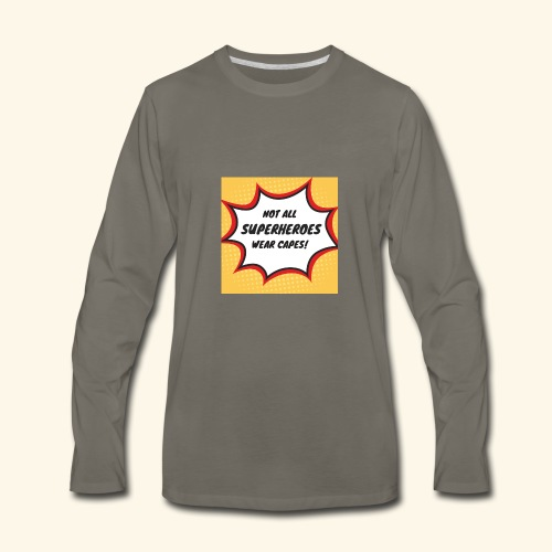 superhero no cape - Men's Premium Long Sleeve T-Shirt