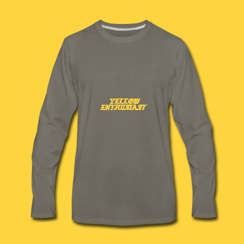yellow enthusiast - Men's Premium Long Sleeve T-Shirt